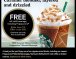 Free Cold Starbucks Drink, limited time offer!